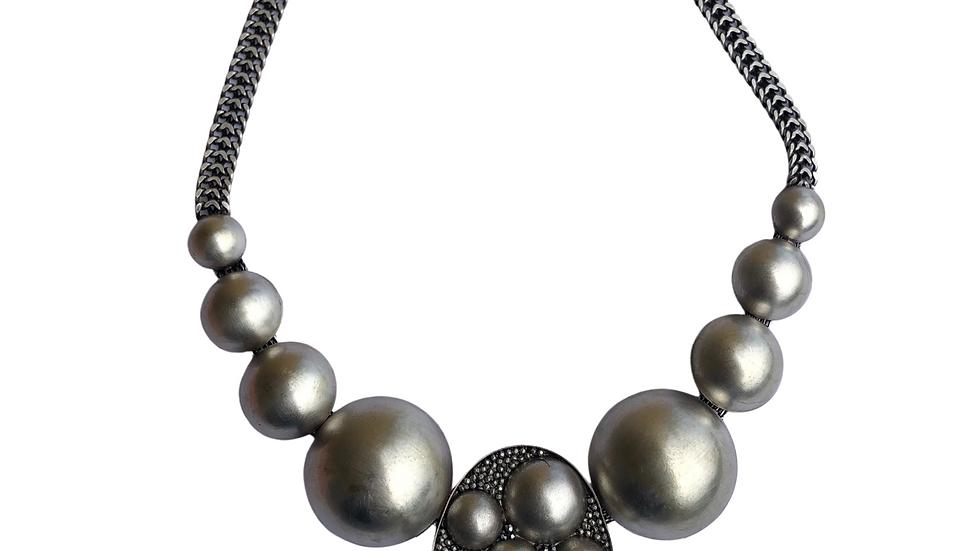 Hematite Crysal Necklace