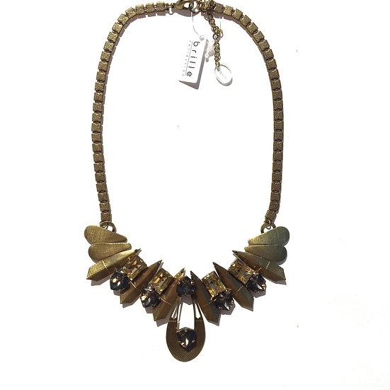 Golden Triangle Petals Necklace