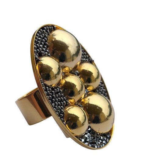 Double Oval Golden Ring
