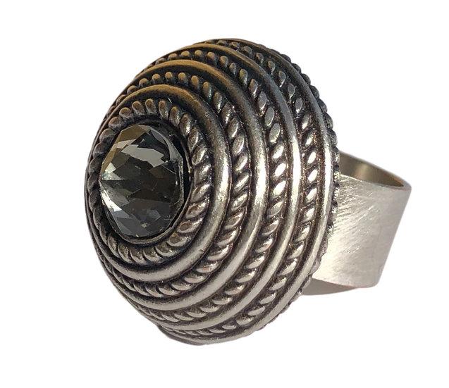 Black Diamond Crystal Ring