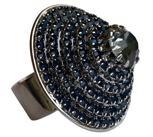 Brass Silver Ring