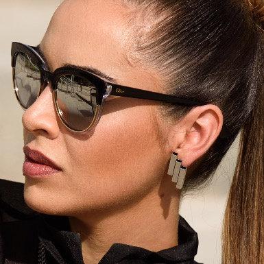 Flat Silver Tube Earrings