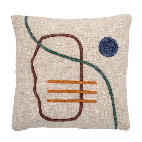 EMBROIDERED ABSTRACT CUSHION