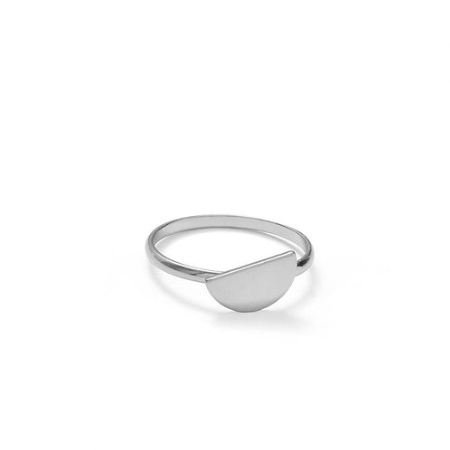 OFFSET SEMI-CIRCLE RING