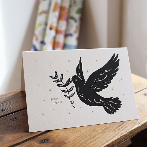 PEACE LETTERPRESS CARD