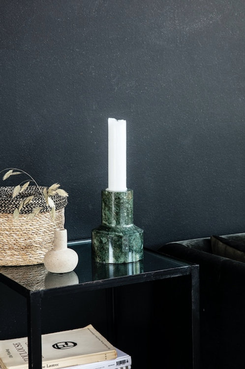 CHUNKY GREEN MARBLE CANDLESTAND