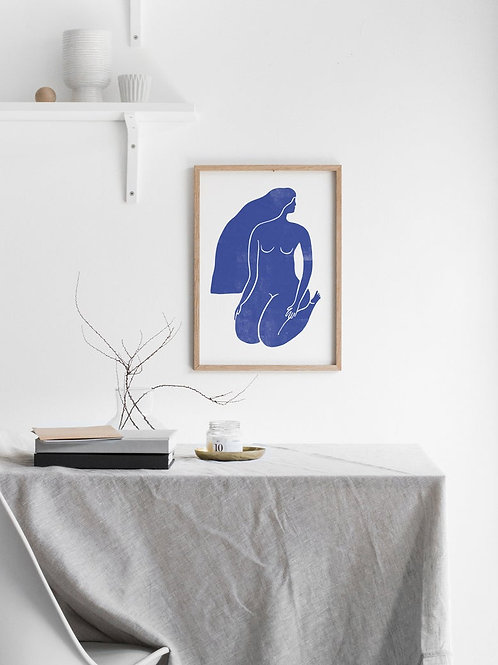 BLUE NUDE No.2 GICLEE ART PRINT