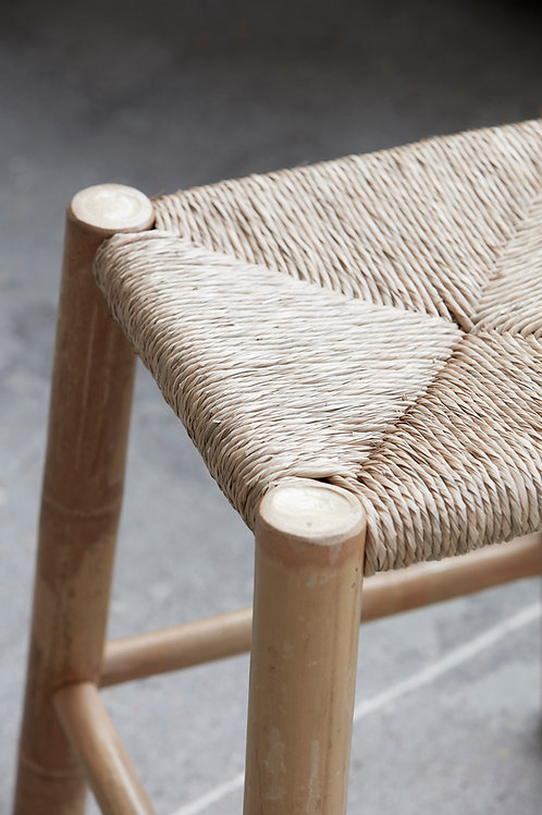 BAMBOO + SEAGRASS STOOL