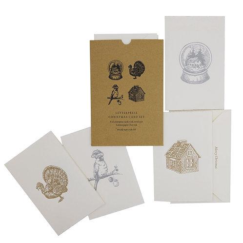 LETTERPRESS CHRISTMAS CARD PACK