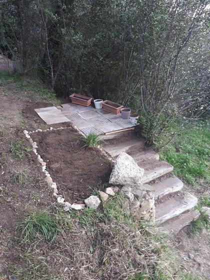 Aménagement des escaliers du jardin