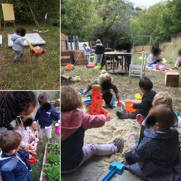 Journée réalisé avec une association d'assistante maternelle au club nature