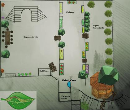 """Plan d'aménagement du jardin le """"clos"""""""