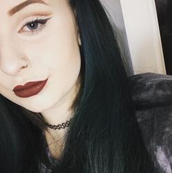 Glitter Cut Crease With A Dark Maroon Lip