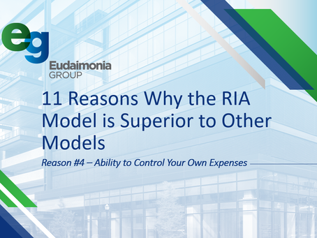 11 Reasons Why the RIA Model is Superior to Other Models:  Reason #4