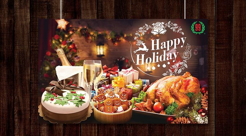 Tawa horizontal poster MockUp -Christmas