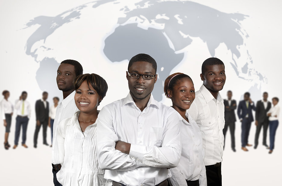 African Business People World Map, Studi