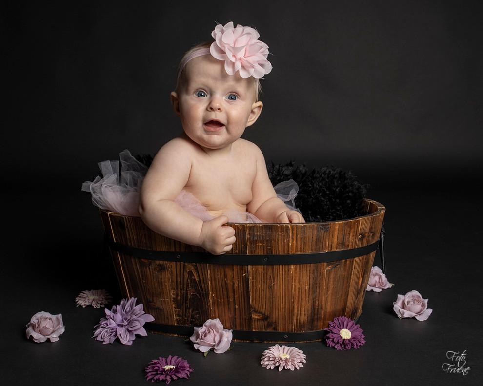 baby, blomster, babyfoto, hårpynt