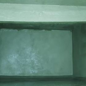 Limpeza, tratamento de armadura expostas e impermeabilização caixa d'água.
