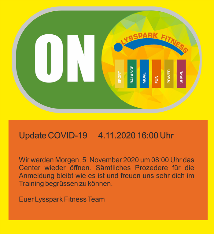 Update Covid-19   4.11.2020 16:00 Uhr