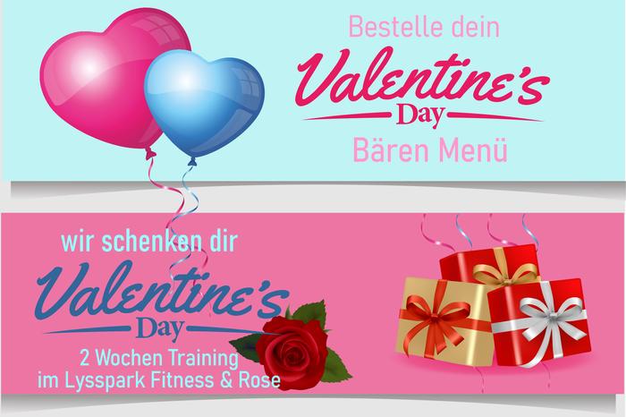 Bären Valentinstags-Menü * Lysspark Fitness Gutschein + eine Rose geschenkt