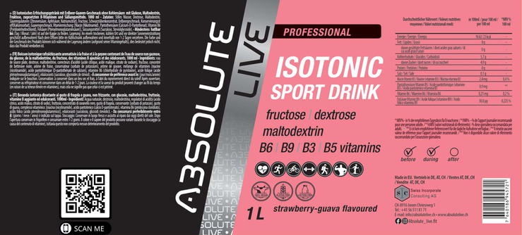 Isotonic Sport Drink Strawberry-Guava Geschmack