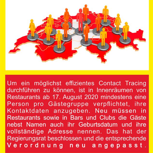 COVID-19 Registrationspflicht für konsumierende Gäste