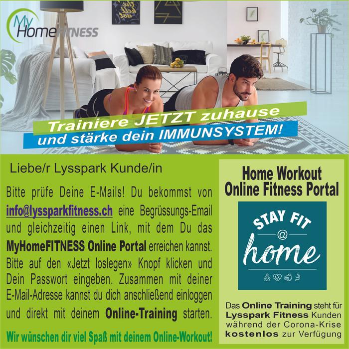 MyHomeFitness - Home Workouts zum überbrücken der Coronakrise