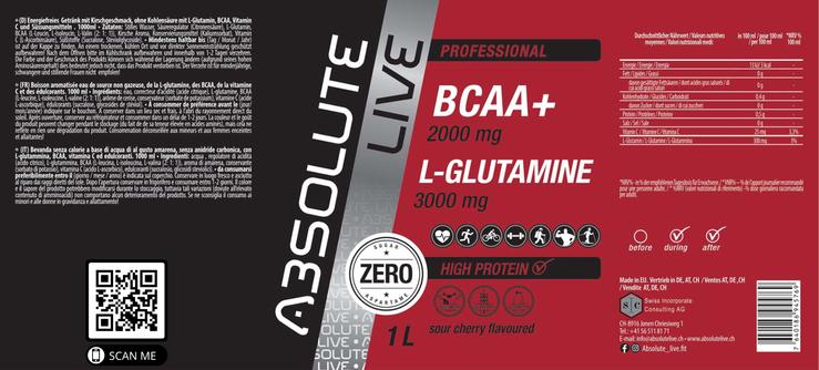 BCAA-L-GLUTAMINE Sour Cherry