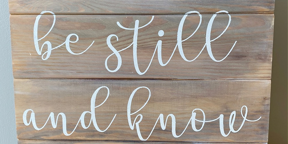 Be Still Pallet Board for Adults