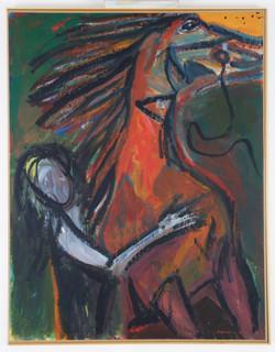 ορμή αλόγου,1997,160x180cm