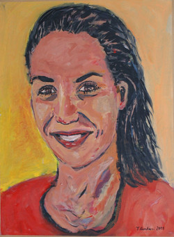 Antigoni Roubesi, acrylic on paper mounted on canvas, 40x60cm, 2011(1)