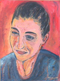 Ntina Kouteli, acrylic on paper mounted on canvas, 40x60cm, 2011(1)