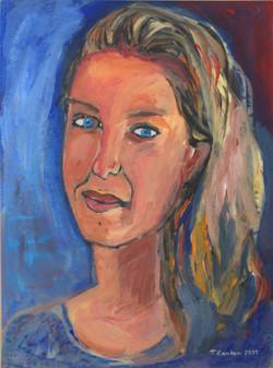Christina Tsoukala, acrylic on paper mounted on canvas, 40x60cm, 2011(1)