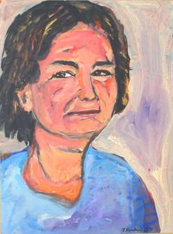 Giouli Lara, acrylic on paper mounted on canvas, 40x60cm, 2011(1)