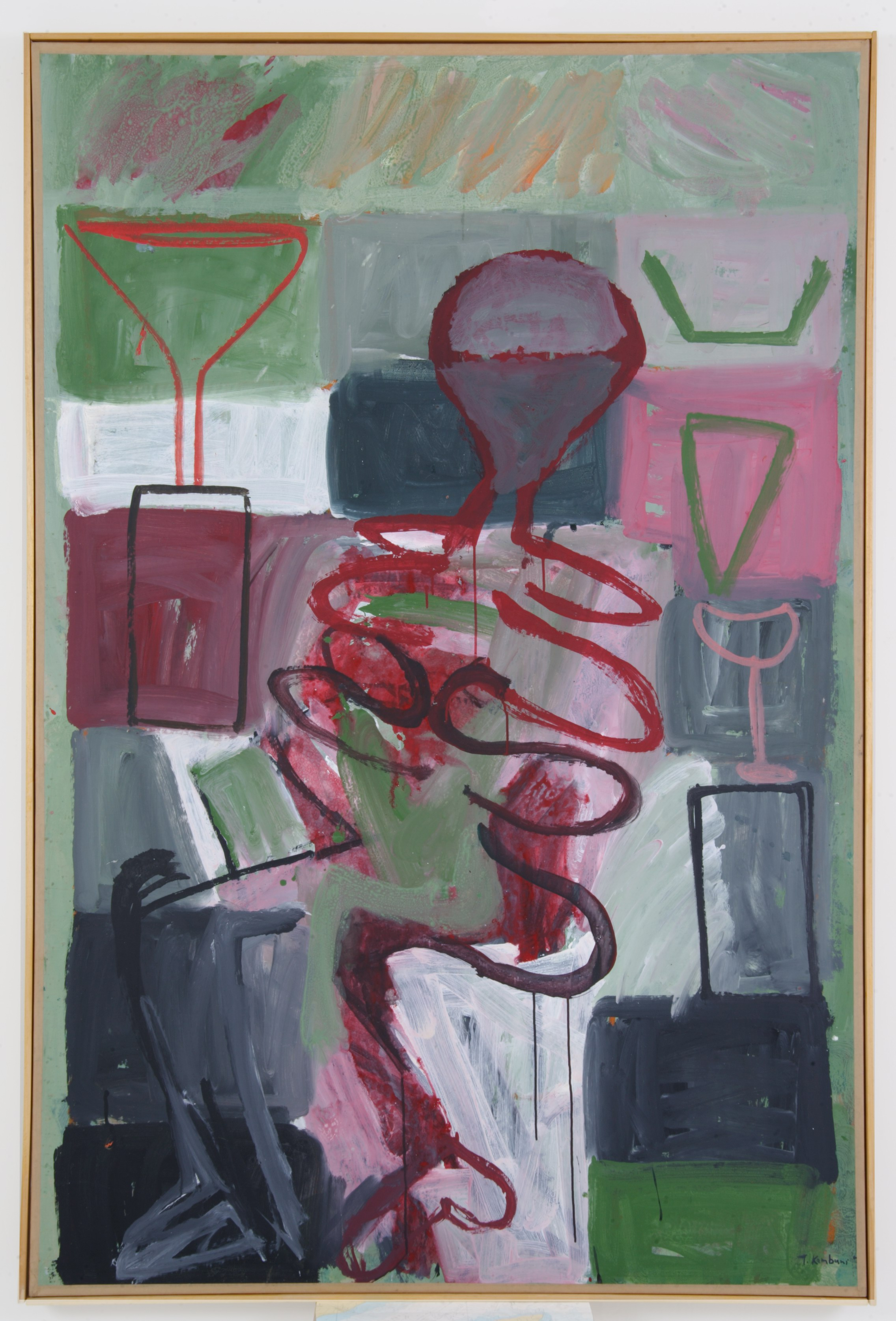 τα ποτά και τα ξενύχτια,1996,200x140cm
