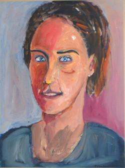 Kiki Liosi, acrylic on paper mounted on canvas, 40x60cm, 2011(1)