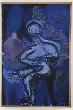καπνίζοντας στο σκοτάδι,1996,110x160cm