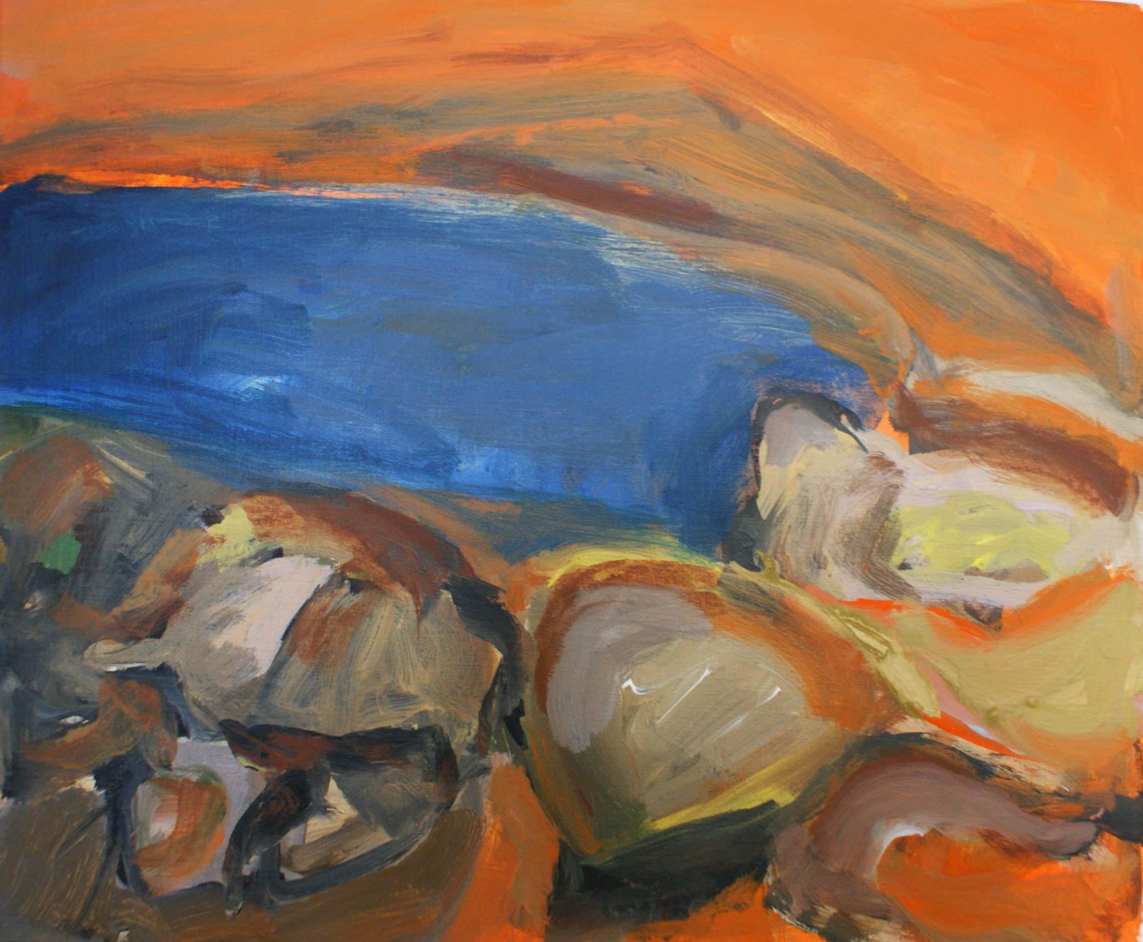 pierres_et_mer_au_couché_du_soleil,_2016,_55x45,5_acrylique_sur_toile_sm