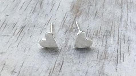 Heart Micro Stud Earrings