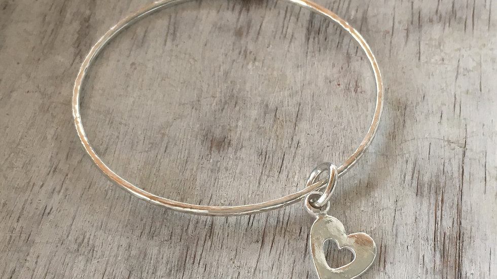Hollow Heart Bangle