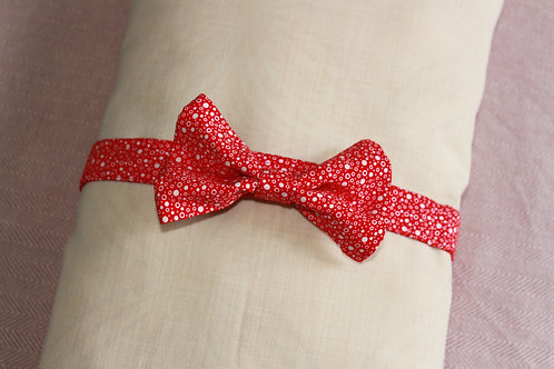 Red Polka Dog Bowtie
