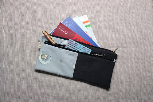 Denim Document Pouch