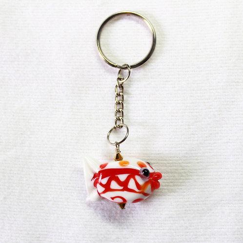 Lampwork  Fish Keychain