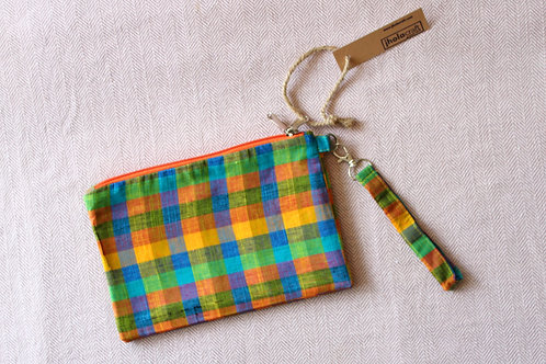 Madras Chequered Judwa Pouch