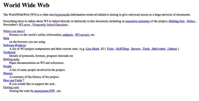 world wide web, dünya, ilk web sitesi