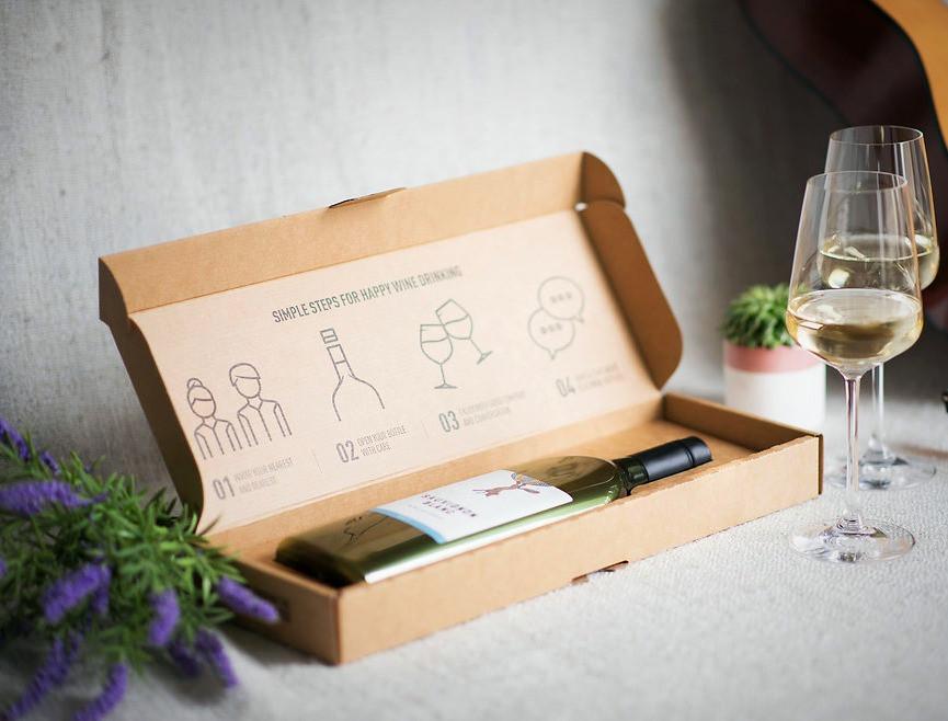 Yassı Şarap Şişesi - Flat Wine Bottle