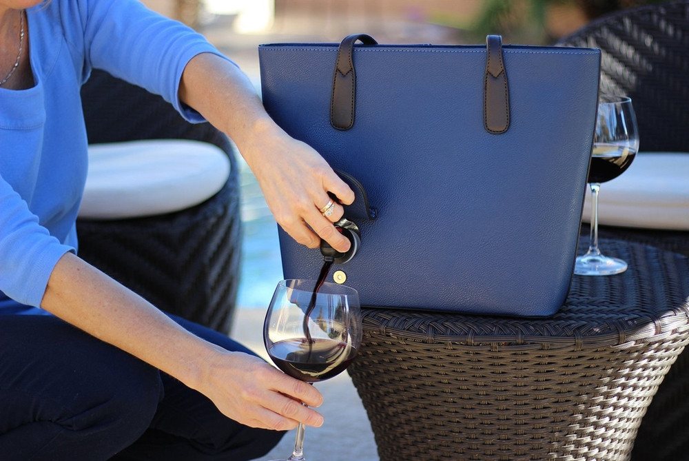 Şarap sever kadın çantası