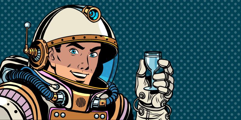 Uzayda hiç şarap içilmedi mi?
