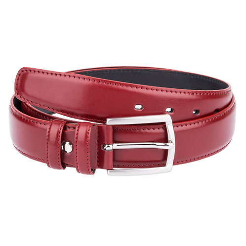 Burgundy red threaded belt