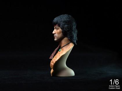 Rambo2 - 1/6 scale Action Figure Custom Head + Bust Kit SET (30 Limited edition)